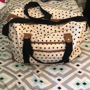 Large Target Heart duffel bag